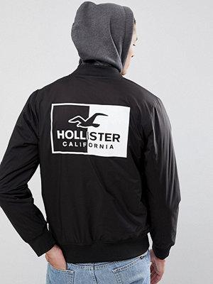Bomberjackor - Hollister Back Logo Stretch Bomber Jacket With Sweat Hood