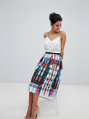 Closet London Closet Plaid Midi Skirt