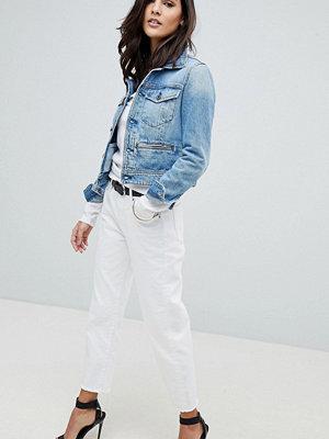 G-Star 3301 Korta boyfriend jeans med mellanhög midja Enzyme stone wash