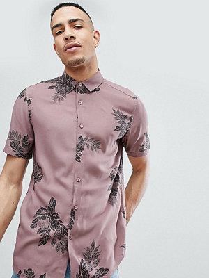 ASOS DESIGN Tall regular fit viscose floral shirt