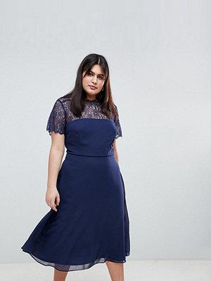 ASOS Curve ASOS DESIGN Curve lace insert panelled midi dress