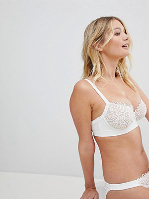 ASOS DESIGN Fuller Bust Premium Bridal Corded Fan Lace Underwired Bikini Top Dd-G