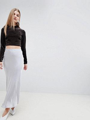 ASOS White Satin Maxi Skirt
