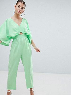 ASOS DESIGN Jumpsuit med kimonoärm och pegben