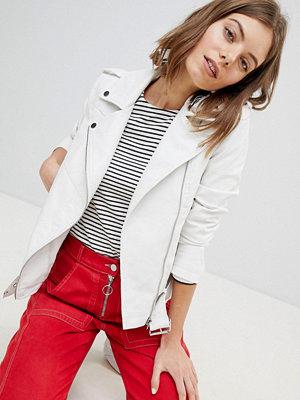 Vero Moda Leather Look Biker Jacket With Buckles