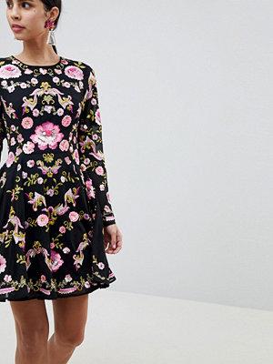 ASOS Edition Beautiful Embellished Floral Skater Dress