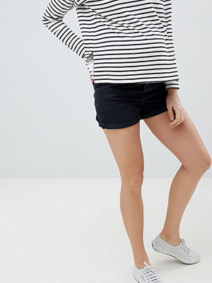 ASOS Maternity Ritson Svarta shorts i mom-modell Tvättad svart