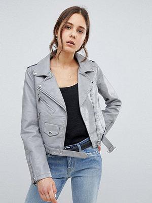 Parisian Leather Look Jacket