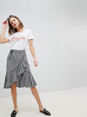 Vero Moda Western Gingham Skirt - Black checks