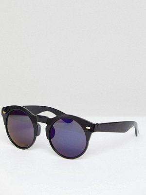 Selected Round Sunglasses With Blue Lenses