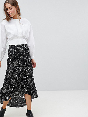 Vero Moda Tall Star Print Wrap Maxi Skirt