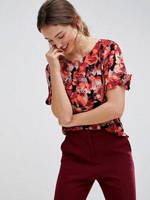 mbyM Mörk t-shirt med blommönster Tibetan red