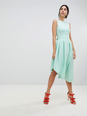 True Violet High Low Volume Dress With Bow