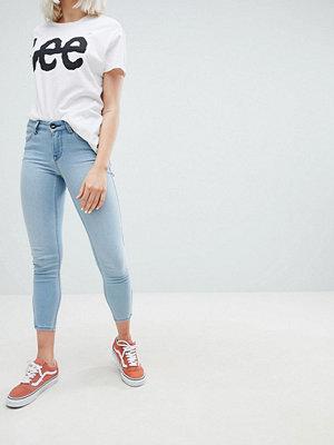 Lee Scarlett Beskurna jeans Ljusblå