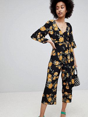 Miss Selfridge Floral Print Culotte Jumpsuit