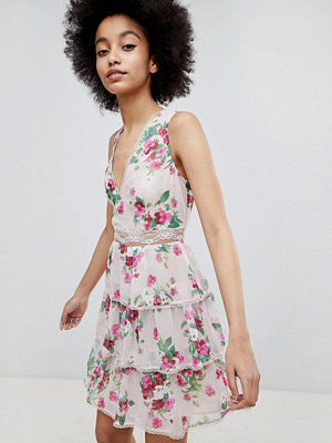 Miss Selfridge Tiered Floral A-Line Dress - Floral