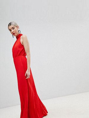 Boohoo High Neck Pleated Maxi Dress