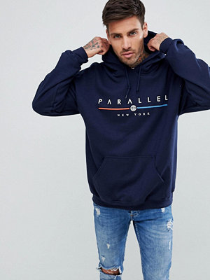 New Look Hoodie With Parallel Print
