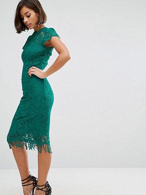 Paper Dolls Crochet Lace Dress With Cap sleeve - Jade