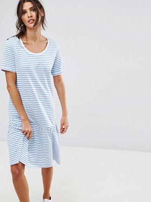 Selected Jersey Stripe Dress - White/allure
