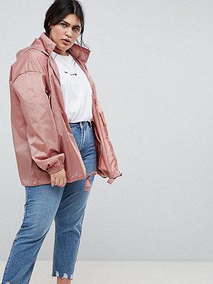 ASOS Curve ASOS DESIGN Curve Rainwear Jacket With Bumbag