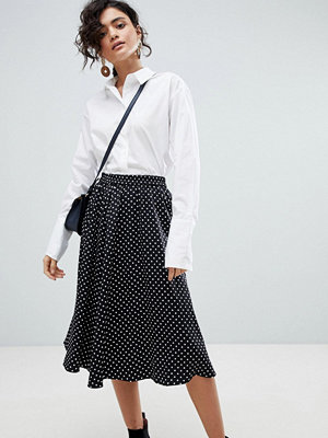 Selected Polka Dot Midi Skirt - Multi
