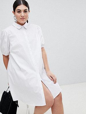 ASOS Curve ASOS DESIGN Curve cotton swing mini shirt dress