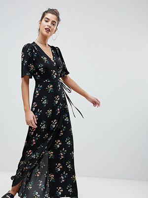 Reclaimed Vintage Inspired Wrap Maxi With Split