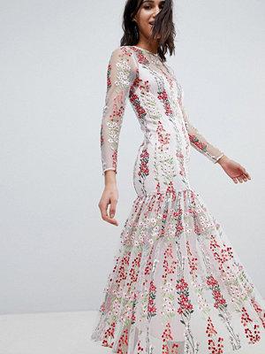 ASOS Edition Floral Embroidered Drop Waist Maxi Dress