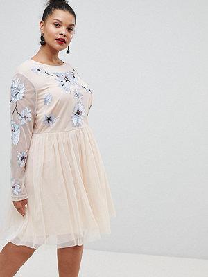 ASOS Curve ASOS DESIGN Curve pastel embroidered tulle mini dress