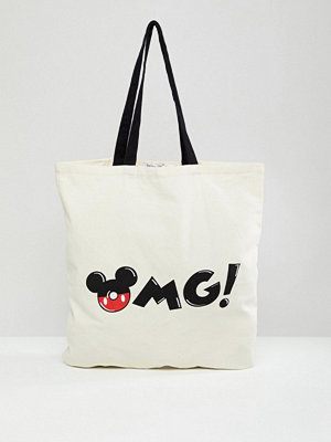Bershka Mickey Mouse Logo Shopper