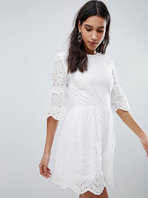 Parisian Broderie Dress With Sleeve Detail