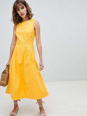Warehouse Tie Back Midi Dress