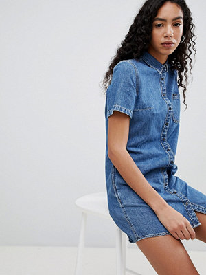 Calvin Klein Jeans Button Through Denim Dress - Indigo