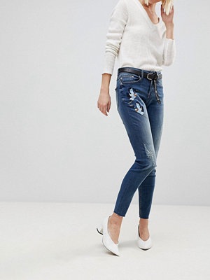 B.Young Embroidered Jeans - Antique blue