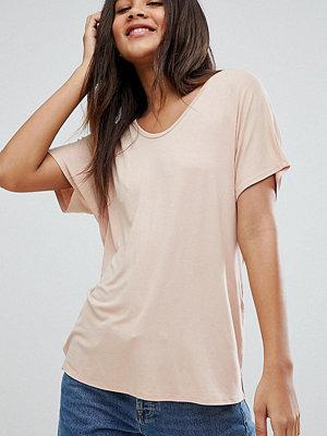 Asos Tall Rosa t-shirt med draperad pingvinärm