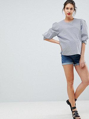Bandia Mammakläder Jeansshorts med avtagbart magband