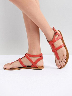 Warehouse Leather Toe Post Sandals