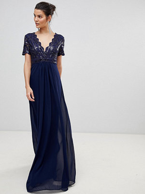 City Goddess V Neck Maxi Dress