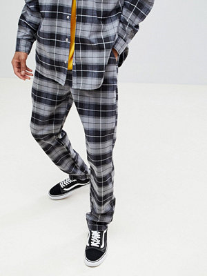 ASOS x Unknown London Relaxed Trousers In Check Flannel