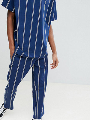 ASOS x Unknown London Relaxed Trousers In Stripe