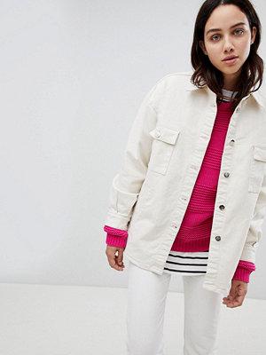 Mads Nørgaard Oversized Denim Shirt Jacket - 2288 super raw
