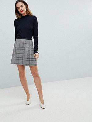 Oasis Colourful Check Mini Skirt - Grey check