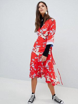 Y.a.s Printed Kimono Wrap Dress