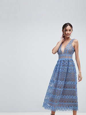 Boohoo Lace Midi Dress