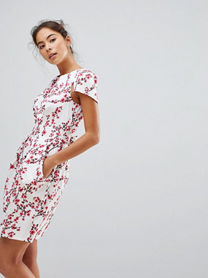 Closet London Tulip Dress In Blossom Print