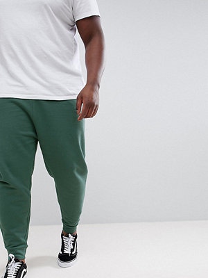 ASOS DESIGN Plus Drop Crotch Joggers In Washed Green - Otto