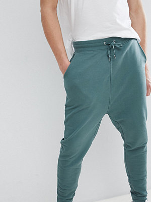 ASOS DESIGN Tall Drop Crotch Joggers In Washed Green - Otto