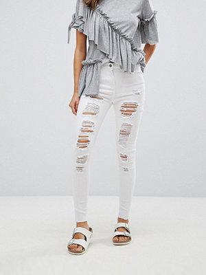 Parisian Extreme Rip Skinny Jeans