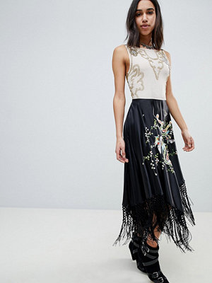 ASOS Edition Embroidered And Embellished Dragon Midi Dress With Tassels